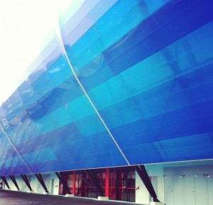 Stade, au Havre . Architecte : SCAU Architecte / Photographe : Jérôme Ruskin
