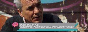 Denis Loubaton, co-président et fondateur de l'association « Les Amis des Jardins du Ruisseau »