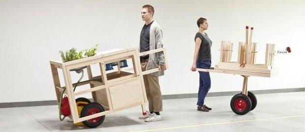 """Mobile hospitality"" imaginé par Anna Rosinke et Maciej Chmara (Stadtpark collective)"