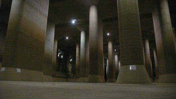 L'immense réservoir de Saitama doit permettre de protéger Tokyo des inondations. Copyright : eerkmans / Flickr