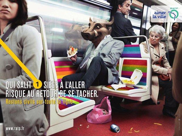 """Campagne RATP """"Restons civils sur toute la ligne"""""""