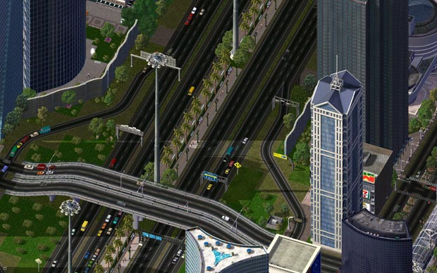 Sim City 4 Downtown Highway Interchange, par haljackey