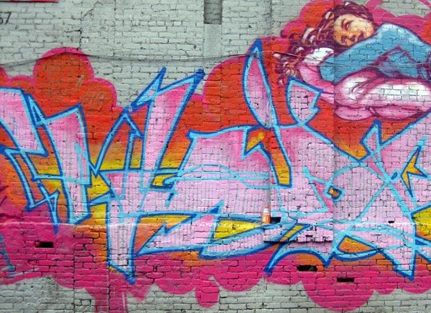 Graffiti de l'artiste Mode2 réalisé dans le quartier new-yorkais de Soho, à l'angle de Canal Street et Green Street. Crédits : Wally Gobetz / Flickr