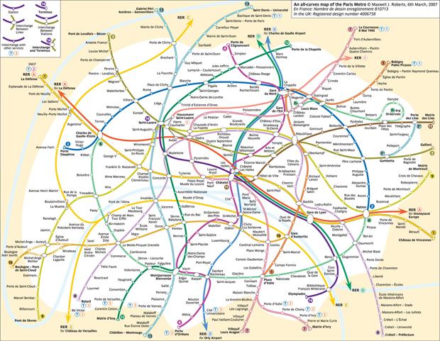 Paris curvy map, par Marc Byrnes @markbyrnes525