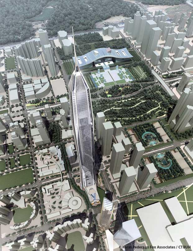 Le Ping An International Finance Center à Shenzhen, en Chine. Copyright : Kohn Pedersen Fox Associates / CTBUH