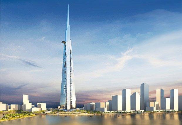 La Kingdom Tower à Djeddah, en Arabie Saoudite. Copyright : Adrian Smith + Gordon Gill Architecture