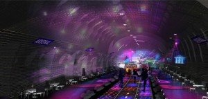 Les architectes parisiens Manal Rachdi et Nicolas Laisné ont interprété en images le souhait de Nathalie Kosciusko-Morizet d'offrir une seconde vie à 7 stations désaffectées du métro parisien. Copyright : Manal Rachdi & Nicolas Laisné