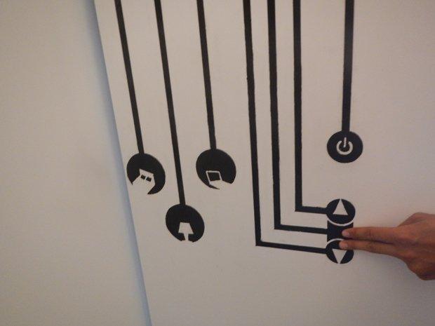 Des bandes de peinture intelligentes permettent de contrôler les appareils électriques. Copyright : Sara Zaïmov