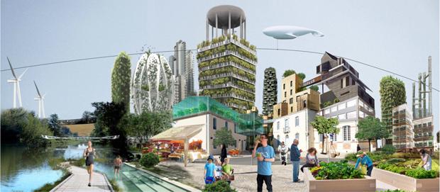 ville verte autosuffisante et pratiques alimentaires