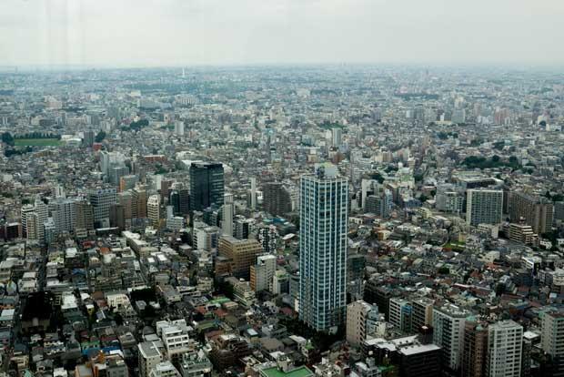 Tokyo est une mer de béton qui s'étend à perte de vue. Crédits : Antoine Dubois