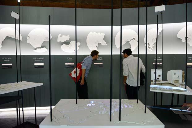 L'exposition sur le Nunavut conçue par l'agence Lateral Office a été saluée par une « mention spéciale » du jury.  Copyright : Andrea Avezzù / Courtesy la Biennale di Venezia