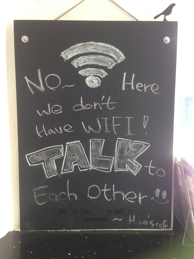 No Wifi @ Hoas cafe, Crédits Dushan Hanuska