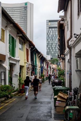 Little India est le cœur historique de la ville avec d'anciens bâtiments que l'on pourrait retrouver en Méditerranée - crédits Antoine Dubois