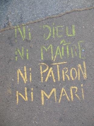 """""""Ni dieu ni maître ni patron ni mari"""" - Donny Bocquet sur Flickr"""