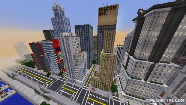 La construction de Greenfield City sur Minecraft a pris six mois. Copyright : MinecraftXL.com