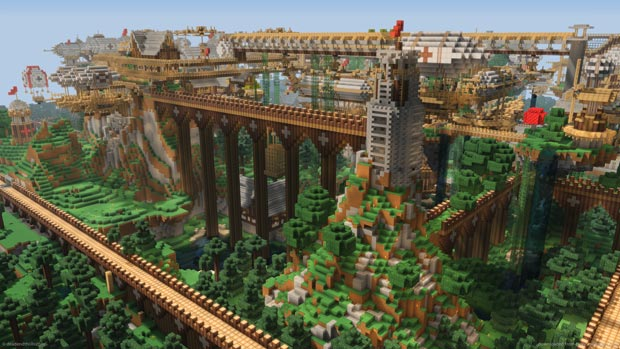 La cité de Dockland, dans le jeu vidéo Minecraft. Copyright photo d'ouverture : gamebreaker.tv