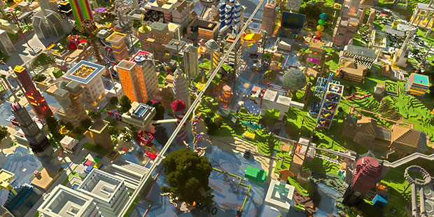 Minecraft city ; Copyright : hobbymb