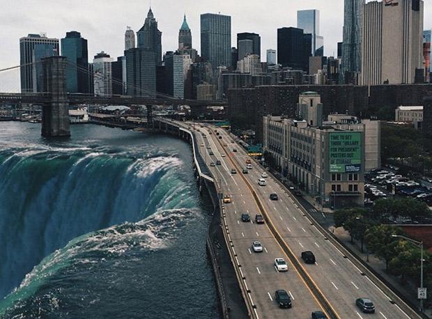 Chutes d'eau - New-YORK ; Copyright : Instagram @swopes