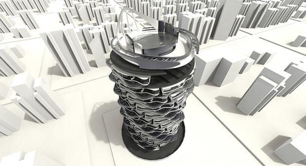 Tour rotative. Copyright : Shin Design
