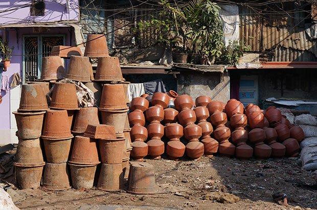 Poterie Dharavi. Crédits : Clément Pairot