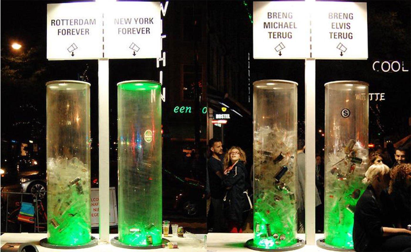 WeCup, une solution innovante pour récolter les détritus en plastique et faire entendre sa voix. Crédits : Wecup