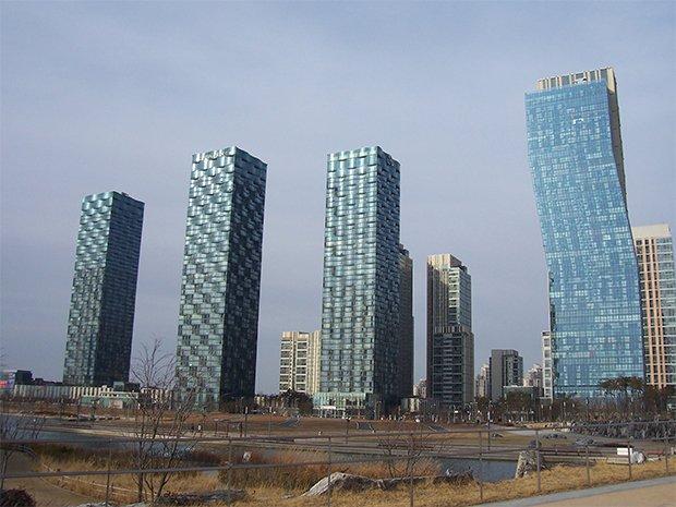 La « ville connectée » de Songdo, en Corée du Sud. Crédits : Weli'mi'nakwan / Flickr