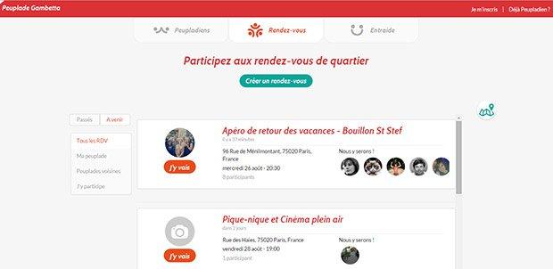 Les rendez-vous de quartier de la peuplade de Gambetta (Paris XXe) Crédits : Peuplade