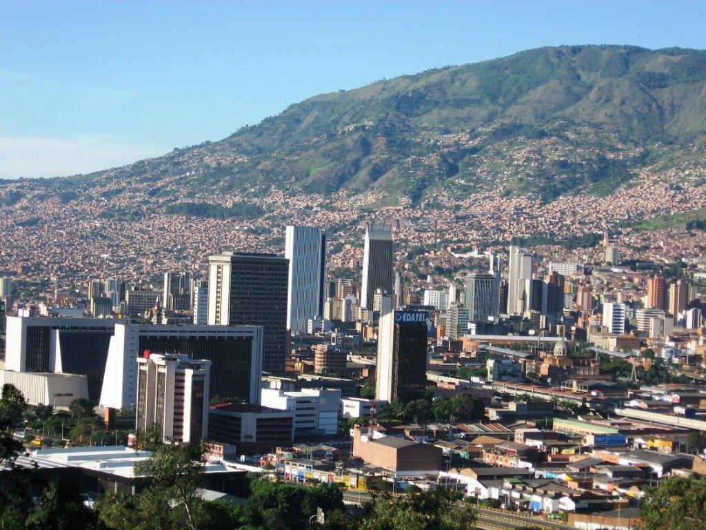 Les quartiers nord-est de la ville de Medellin, en Colombie.