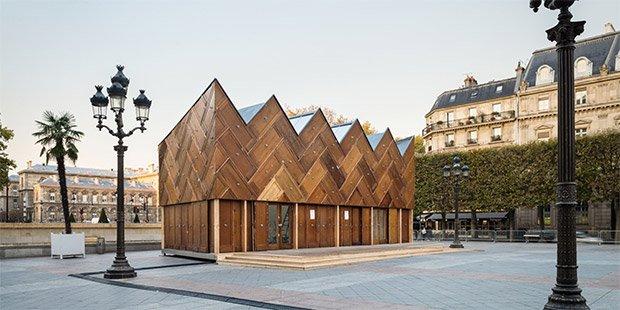 Le Pavillon circulaire vante les mérites de l'économie circulaire en matière de créativité architecturale. Copyright : © Pavillon de l'Arsenal