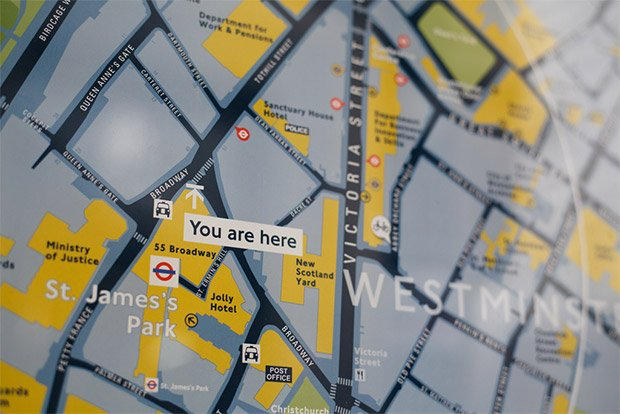 You are here. Crédits : Flickr / Tom Page
