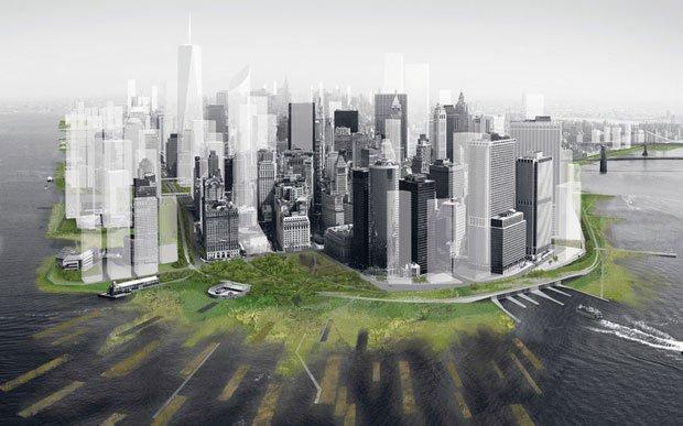Projet de renaturalisation des berges de Manhattan ©DLANDstudio