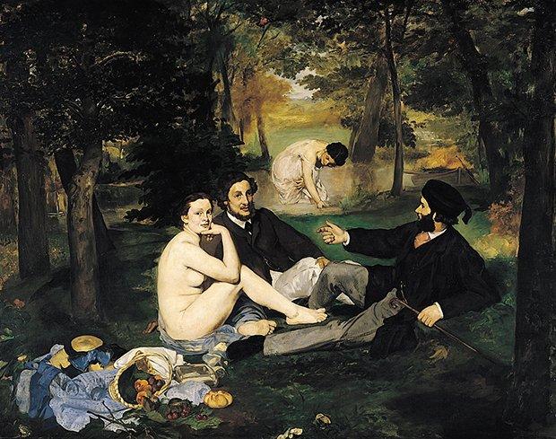 Le déjeuner sur l'herbe de Manet illustration genrée de l'espace public au XIX° siècle