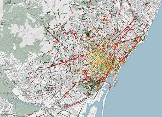 Les odeurs de Barcelone (via Smelly Maps)