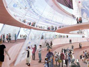 Sensual city Studio globe batiment exposition universelle