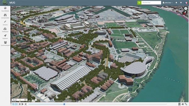 lyon for city modelisation amenagement urbain
