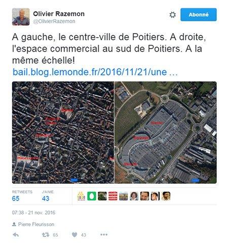 tweet razemon centre ville poitiers