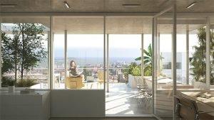 bureaux terrasse exterieure