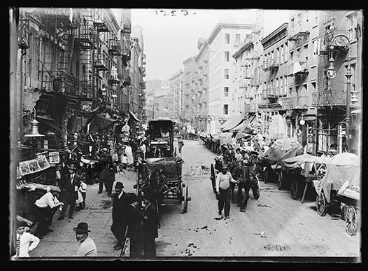 Une rue de Manhattan vers 1900