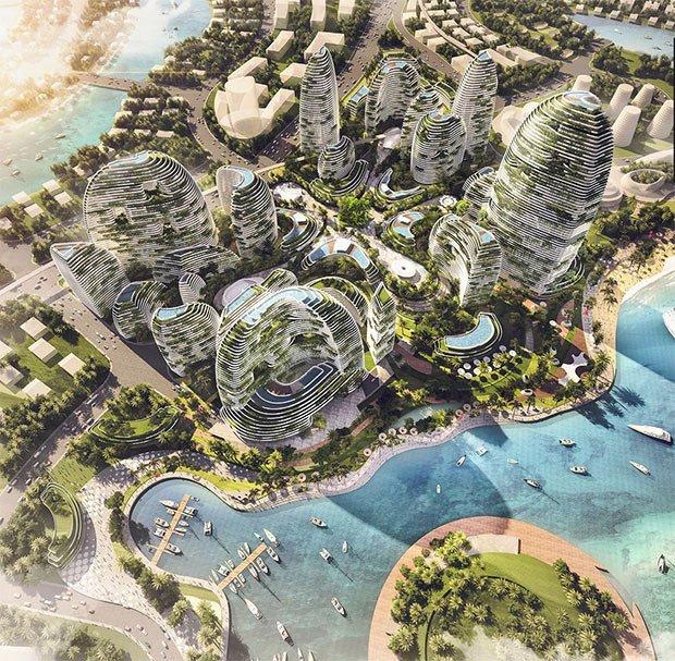 ville futuriste auto-suffisante en malaisie