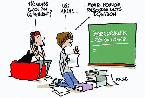 caricature de la vie étudiantes sans budget