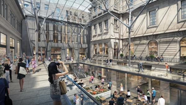 Perspective du futur visage de l'Hôtel-Dieu à Lyon.