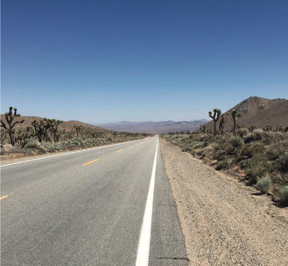 Image de la route 66 aux etats-unis