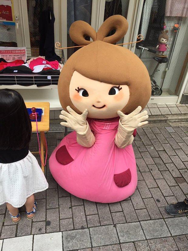 Minami-chan, la mascotte de la sortie Sud de la station de métro tokyoïte Togoshi-Kouen -