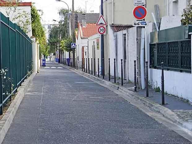 Certaines rues francaises sont tres mornes.