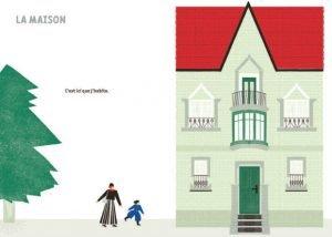 Une maison dessinée dans un livre pour enfants