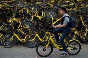 Un centre de réparation du loueur chinois de vélos en partage Ofo à Pékin