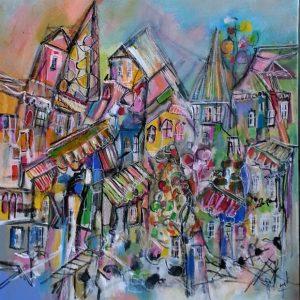 Une ville sous forme de peinture