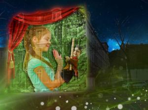 Une animation à la fête des lumières à Lyon