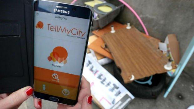 L'application TellMyCity permet de faire remonter des informations à la Mairie