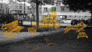 Mobilier urbain multiusages en kit
